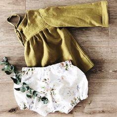 Handmade Linen Baby Toddler Blouse & Bloomers | MiyaAndMa on Etsy
