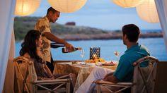 Private dining in an Ocean Hale #Hawaii #FourSeasonLanai