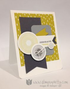 February 03, 2014 Stampin' Pretty: Stampin' Up! Spiral Spins Sweet Sorbet dsp,  Envelope Framelits dies