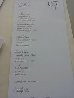 monogram menu