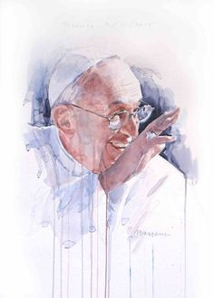 Portrait of Francisco I, 2015, watercolor 70x50