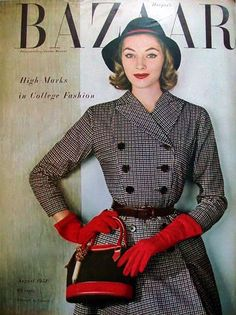 vintage everyday: Fashion Magazine Covers from 1940s-1950s