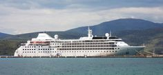The Silver Wind, Silver Sea lines.  300 passengers, but only 140 on board for our cruise Greece, Malta, Italy.