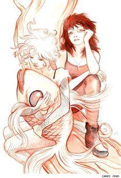 Boceto de James Jean con Delirio y Muerte de Los Eternos como protagonistas. Todas nuestras entradas relacionadas con este artista a un solo click