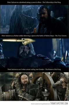 OMG!! I recently just watched the fellowship and pointed out the guy with the carrot and how funny that was, never noticed it was him!