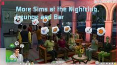 More Sims at the Bar, Nightclub and Lounge v1.1 by simmythesim at Mod The Sims via Sims 4 Updates