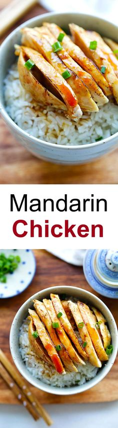 Mandarin Chicken – popular Chinese chicken dish with sweet and savory Mandarin sauce. Crazy good just like Panda Express or the malls | rasamalaysia.com