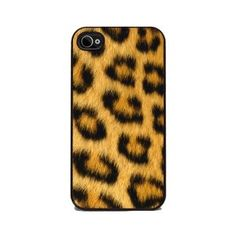 Leopard Animal Print - iPhone 4 and 4s Silicone Rubber Cover, Cell Phone Case