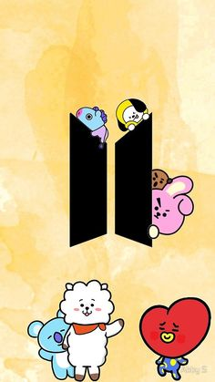 «Bt21» de Abby S Bts Lockscreen, Iphone Wallpaper Bts, Cellphone Wallpaper, Phone Wallpapers, Kpop Diy, Bts Backgrounds, Character Wallpaper, Bts Drawings, Line Friends