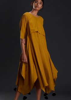 Items similar to New Mustard Dress /Bohemian Dress/ Designer Wear / New Collection/ Cotton Summer Tunic/ Long Tunic/ Loose Oversized Maxi Dress on Etsy Preppy Dresses, Casual Outfits, Oversized Dress, Oversized Clothing, Mustard Dressing, Kurta Designs Women, Long Shirt Dress, Contemporary Fashion, Asymmetrical Dress