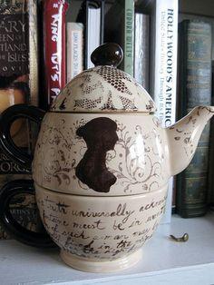 Jane Austen stackable teapot....Oh my!