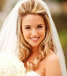 wedding hairstyles half up half down with veil underneath - Google Search