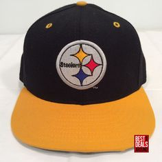 Vintage Pittsburgh Steelers New Era 59Fifty Pro Model 7 1 8 Wool Fitted Cap  Hat 0139fc6a4