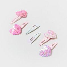 Claire's : 3 Pair Heart Hair Barrettes | $6.00