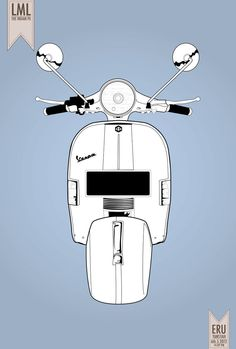 LML scooter. Illustration by ewaaw via deviant-art