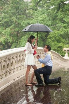 Proposal in the rain; what a story to tell.