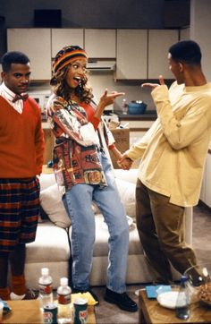 Jackie and Will on Fresh Prince, I always thought they were a cute couple!