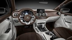 Mercedes-Benz Concept X-CLASS stylish explorer – interior with perfectly finished high-quality materials.