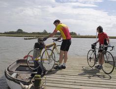 Travel around the Suffolk Coast & Heaths Area of Outstanding Natural Beauty using the bike-friendly ferries between Harwich, Felixstowe and Shotley, and across the Deben Estuary from Felixstowe Ferry to Bawdsey.