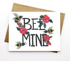 Be Mine. Valentine's Day Card. Samantha Marie Comany.