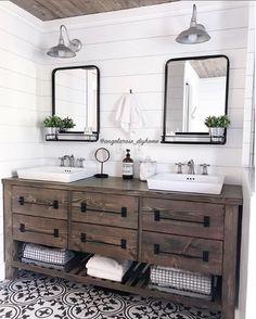 #masterbathroom #bathroomsofinstagram #bathroom #bathroomremodel #bathroomrenovation #bathroominspo #bathroomdesign #neutraldecor #diyhome #diyvanity #bathroomvanity #woodvanity #shiplap #subwaytile #cementtiles #patternedtiles #kismetcheckoutmyhouse #woodceiling #bathroommirror #whiteandwood #vintagedecor #rusticmodern #vintagemodern #modernfarmhouse #rusticfarmhouse #minimaliststyle #simplestyle #fixerupper #homerenovation #hyggehome