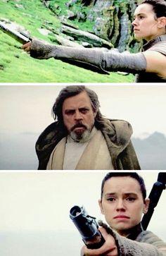 Star Wars VII - The Force Awakens / Rey and Master Luke