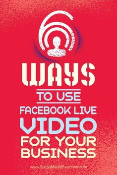 Looking for examples to help you get started with Facebook Live? Discover six ways your business can succeed with Facebook Live video. * Want additional info? Click on the image. #VideoMarketingTips
