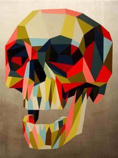 Colorful skull by Morgan Spurlock