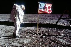 """Apollo 11 blasted off on July 16, 1969. Neil Armstrong, Edwin """"Buzz"""" Aldrin and Michael Collins were the astronauts on Apollo 11. On July 20, 1969, Neil Armstrong became the first human to step on the moon."""