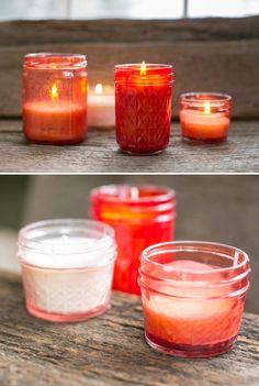 DIY Pink Mason Jar Candles | Henry Happened