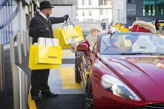 Santa Picking Up His Presents