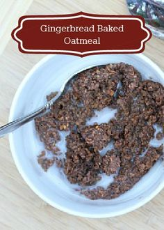 Your favorite Christmas cookie has found it's way into your morning bowl of oatmeal! Your family will love this Gingerbread Baked Oatmeal recipe for breakfast.
