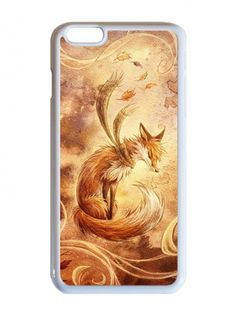Őszi róka illusztráció - Apple Iphone 6 plus tok