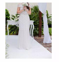 Vestido Noiva Praia Campo Fazenda Boho Usado - R$ 500,00 em Mercado Livre