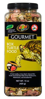 Zoo Med's Gourmet Box Turtle Food - Add enrichment to your #Turtle's diet with the addition of dried Mealworms, mushrooms, and strawberries!