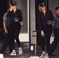Lazy Day Outfits, Mom Outfits, Dance Outfits, Fashion Outfits, Fashion Ideas, Khloe Kardashian Workout, Khloe Kardashian Style, Funeral Outfit, Kim And Kourtney