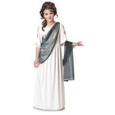 Disfraz Griega, Vestido Griega, Disfraces Época, Disfraces Bellos, Disfraces Infantiles, Princesa Romana, Clasicos Griegos, Trajes Clasicos, Traje Romano