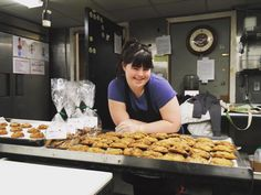 Going big: Collette Divitto, of Boston has become a massive success with her own cookie company after struggling to find a paying job Boston, Still I Rise, Cookie Company, Down Syndrome, Cookies, Cookie Recipes, Bakery, Product Launch, Breakfast