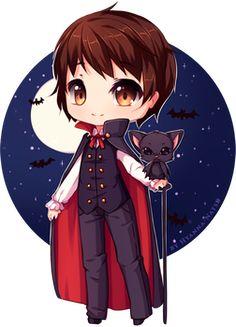raffle week: The Dracula by Hyanna-Natsu on DeviantArt Anime Chibi, Anime Manga, Anime Art, Kawaii, Hyanna Natsu, Drawings For Boyfriend, Dragon Sketch, Cool Drawings, Hair Drawings