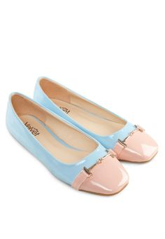 VELVET Hailey Two-Colour Flats Hailey雙色平底鞋 (HKD 139.00)