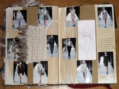 Fashion Sketchbook - heritage fashion textile research and design development