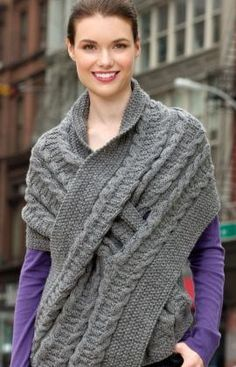 Pull-Through Wrap Knitting Pattern. I am so happy a member of swapworkshop made me this!
