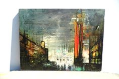 Vintage Mid Century Print Art Print On Canvas by PaperWoodVintage, $35.00