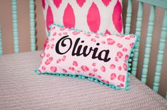 Hey, I found this really awesome Etsy listing at http://www.etsy.com/listing/123517371/baby-pillow-in-bright-pink-leopard-print