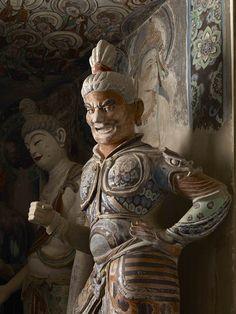莫高窟第45窟 西壁佛龕彩塑臨品 盛唐 北方多聞天王