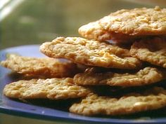 Toffee Crunch Cookies Recipe : Food Network - left out almonds, coconut isn't bad at all