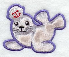 Sylvie Seal (Applique) design (Y2682) from www.Emblibrary.com