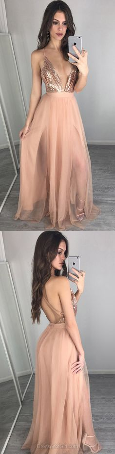 Tulle Prom Dress, Open Back Prom Dresses, Champagne Evening Dresses, Sexy Party Dresses, Long Formal Dresses