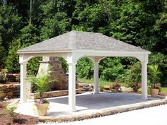 Vinyl Traditional Pavilion http://www.backyardunlimited.com/pavilions