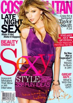 Who made Taylor Swift's gold jewelry, purple tank top, and purple skirt that she wore on the cover of Cosmopolitan magazine? Taylor Swift, Live Taylor, Magazine Cosmopolitan, Magazin Covers, Celebs, Celebrities, Up Girl, Covergirl, Celebrity News
